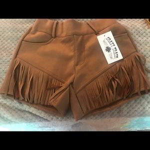 Nwt Small Brown Suede Crazy Train shorts